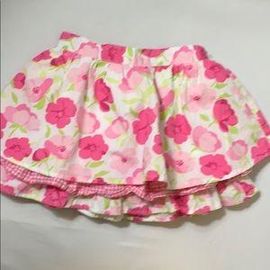 Gymboree Girl's 100% Cotton Floral Skirt